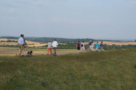 Walk at Maiden Castle