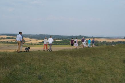 Walk at Maiden Castle